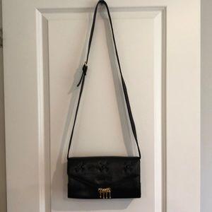 Genuine Leather Black Handbag - Italy